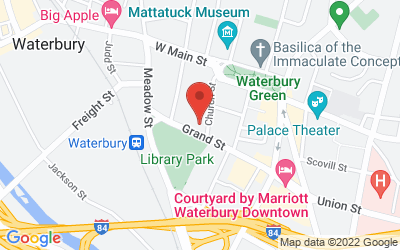 Map of Waterbury Superior Court