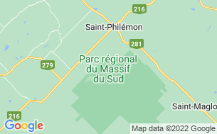 Map of Camping Du Parc Du Massif Du Sud