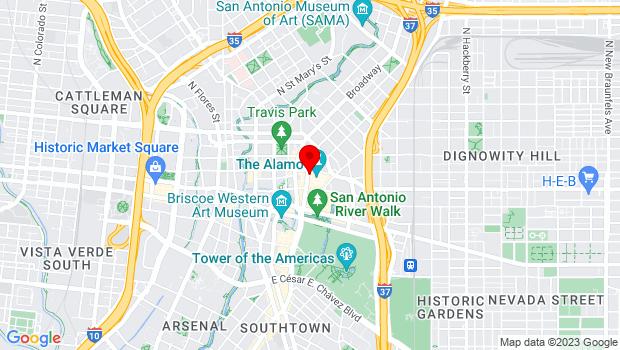 Google Map of 300 Alamo Plaza, San Antonio, TX 78299