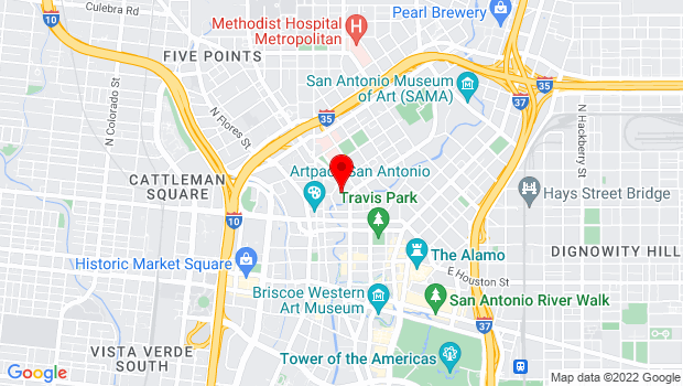 Google Map of 300 Augusta, San Antonio, TX 78205