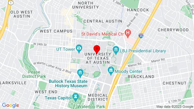 Google Map of 300 E. 23rd St., Austin, Texas 78712