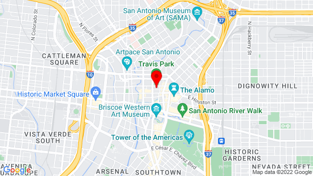 Google Map of 300 E. Travis, San Antonio, TX 78205