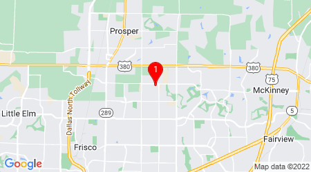 Google Map of 300 Riverstone Way, McKinney, TX 75070, USA