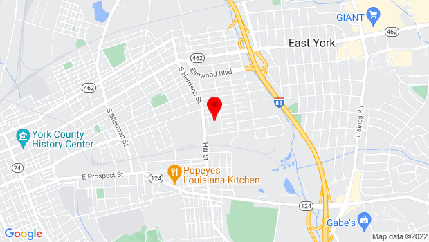 Google Map of 300 S Ogontz St, York, PA 17403