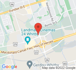 Google Map of 300+Thickson+Road+South%2CWhitby%2COntario+L1N+9Z1