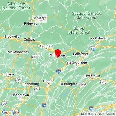Google Map of 300 Warwick Street Philipsburg, PA 16866