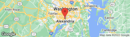 Map of 300 Washington Street N Alexandria, VA 22314