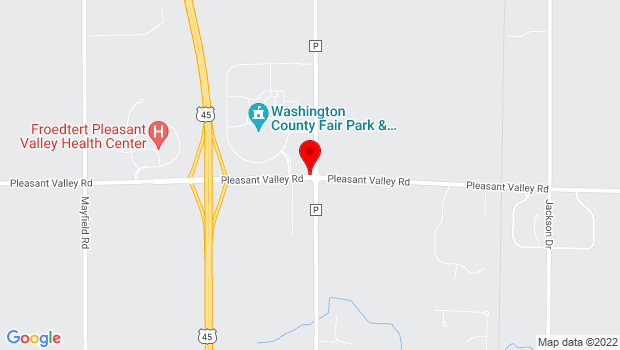 Google Map of 3000 Highway PV, West Bend, WI 53095