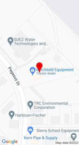 Google Map of Berchtold Equipment Co 3000 Pegasus Drive, Bakersfield, CA, 93308