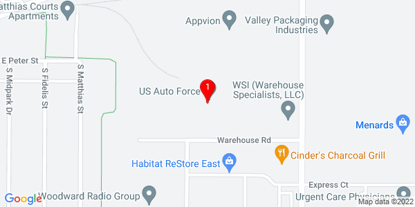 Google Map of 3000 Warehouse Road, Appleton WI 54915