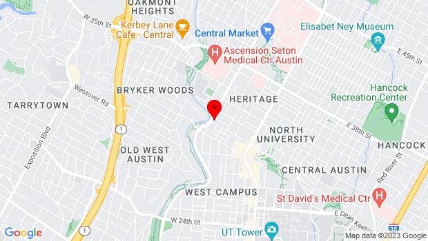 Google Map of 3001 N Lamar Blvd # 100, Austin, TX 78705