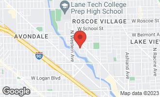 Map of 3005 North Oakley Avenue CHICAGO, IL 60618