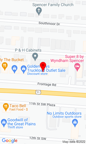 Google Map of Ken Borth Auto Plaza, Inc. 301 11th Street SW, Spencer, IA, 51301
