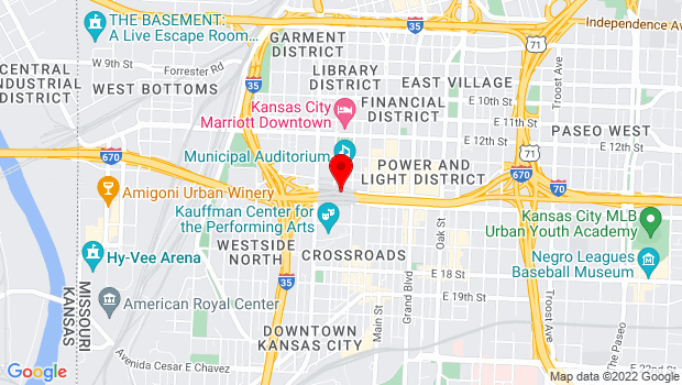 Google Map of 301 W 13th St, Kansas City, MO 64105