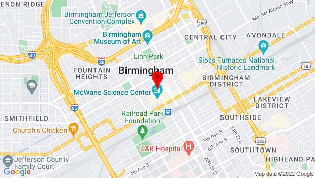 Google Map of 301 19th Street North,  , Birmingham, AL 35203