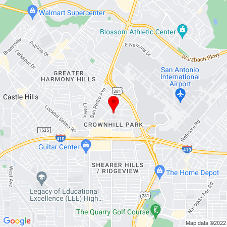Google Map of 301 E. Ramsey Road, Suite 305, San Antonio, TX 78216