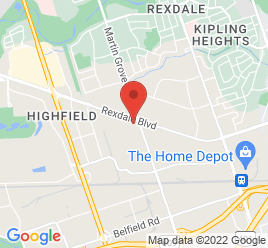 Google Map of 301+Rexdale+Blvd%2CEtobicoke%2COntario+M9W+1R8