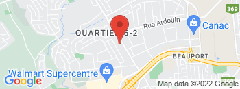 Google Map of 301+Rue+Seigneuriale%2CQuebec%2CQuebec+G1C+3P7