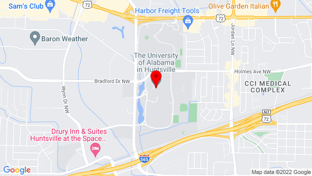 Google Map of 301 Sparkman Drive, Huntsville, AL 35899