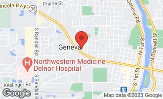 Map of 301 Willow Lane GENEVA, IL 60134