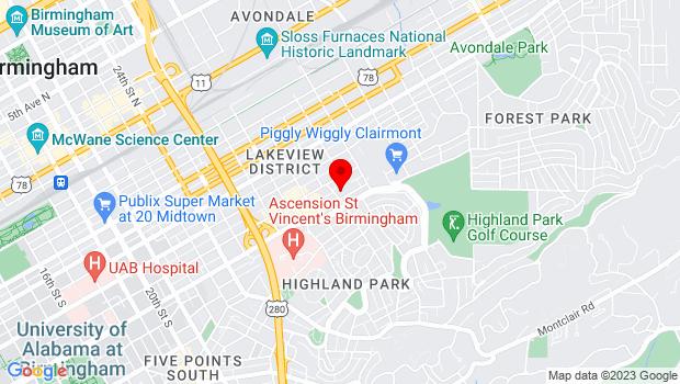 Google Map of 3021 7th Ave South, Birmingham, AL 35233