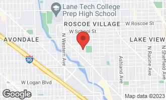 Map of 3023 North Hamilton Avenue CHICAGO, IL 60618