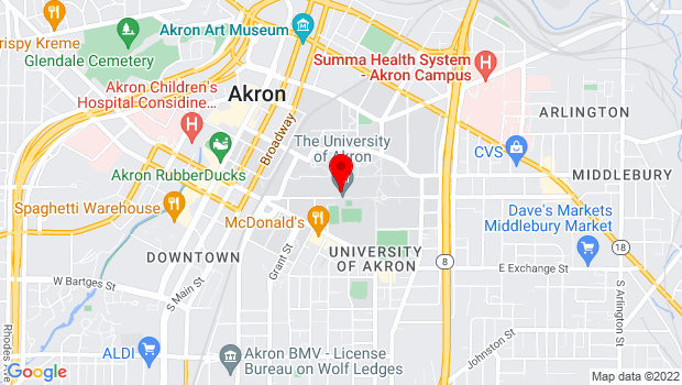 Google Map of 303 Carroll St, Akron, OH 44325
