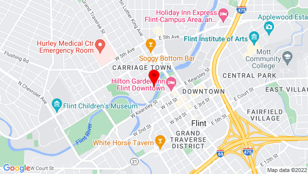 Google Map of 303 W. Water Street, Flint, MI 48503