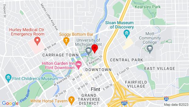 Google Map of 303. E. Kearsley St, Flint, MI 48502