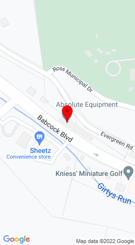 Google Map of Absolute Equipment 3038 Babcock Blvd, Pittsburgh, PA, 15237