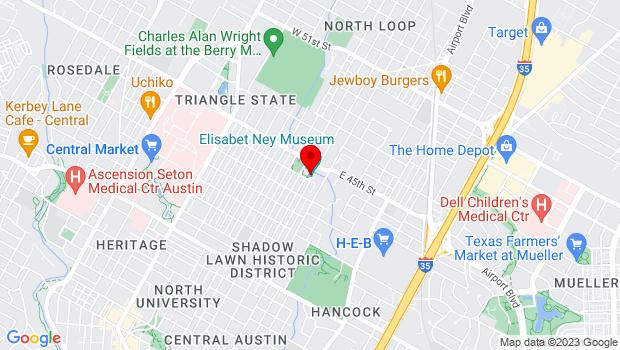 Google Map of 304 E 44th St, Austin, TX 78751