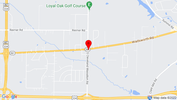 Google Map of 3044 Wadsworth Rd, Norton, OH 44203