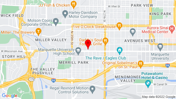 Google Map of 3046 W. Wisconsin Ave, Milwaukee, WI