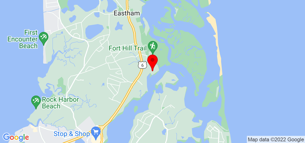 Google Map of 305 Mary Chase Rd Eastham MA