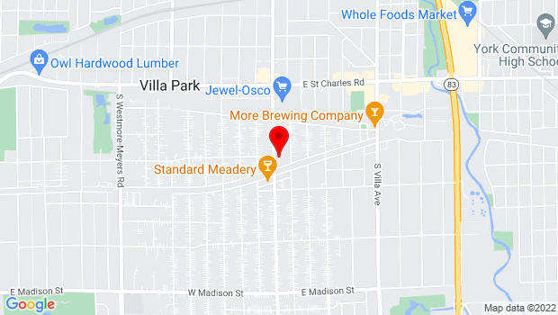 Google Map of 305 S Ardmore Ave, Villa Park, IL 60181