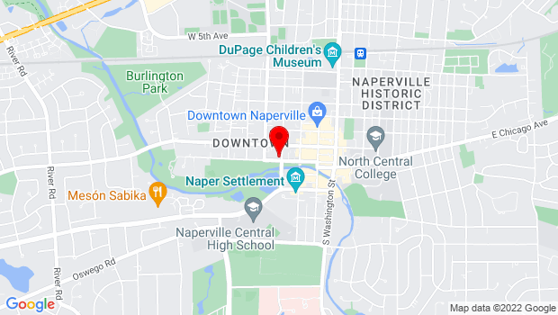 Google Map of 305 W. Jackson Ave, Naperville, IL 60540