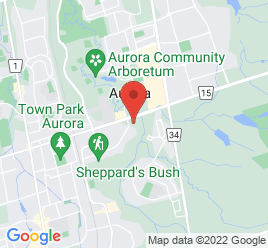 Google Map of 305+Wellington+Street+East%2CAurora%2COntario+L4G+6C3