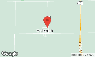 Map of 305 1st Street Holcomb, IL 61043