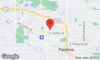 Map of 305 North Plum Grove Road PALATINE, IL 60067