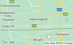 Map of Camping Canne De Bois De Hemmingford