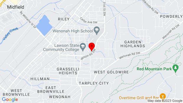 Google Map of 3060 Wilson Rd SW, Birmingham, AL 35221