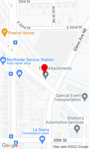 Google Map of East Attachments 3079 Indiana Ave, Winston-Salem, North Carolina, 27105