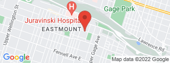 Google Map of 308+Crockett+Street%2CHamilton%2COntario+L8V+1H7