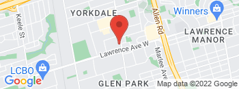 Google Map of 3080+Dufferin+Street%2CToronto%2COntario+M2M+3T3