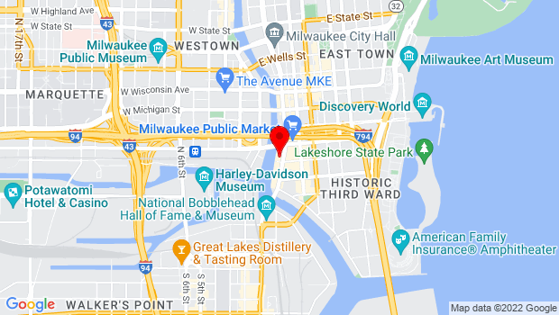 Google Map of 309 N. Water St., Milwaukee, WI 53202
