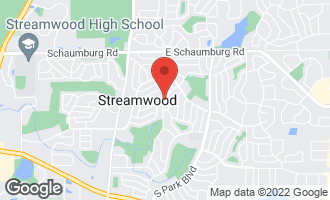 Map of 309 South Oltendorf Road STREAMWOOD, IL 60107