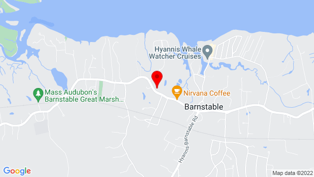 Google Map of 3090 Main Street, PO Box 606, Barnstable, MA 02630