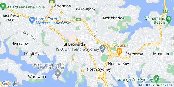 Google Map of 31+Albany+Street%2C+Crows+Nest%2C+Sydney%2C+NSW+2065