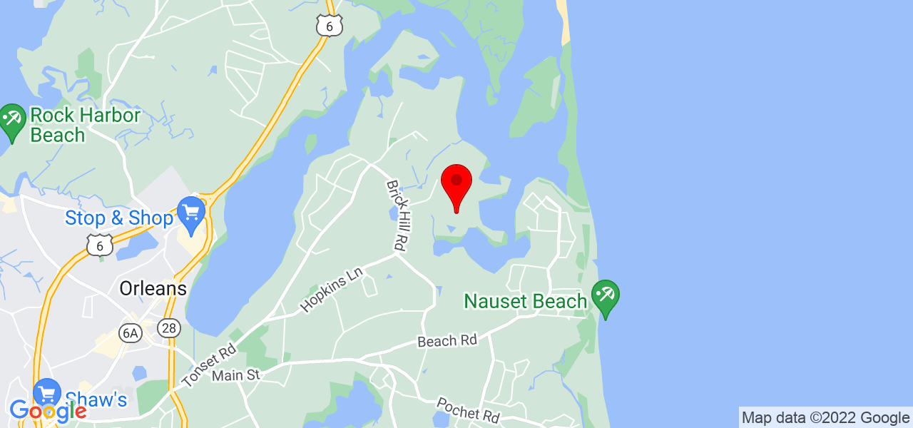 Google Map of 31 Mill Pond Road East Orleans MA