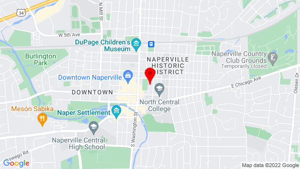Google Map of 31 S Ellsworth Street, Naperville, Naperville, IL 60540